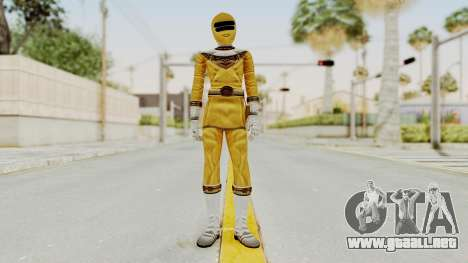 Power Ranger Zeo - Yellow para GTA San Andreas segunda pantalla