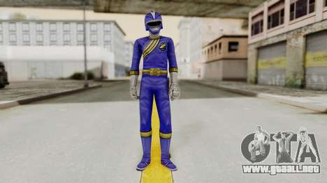 Power Rangers Wild Force - Blue para GTA San Andreas segunda pantalla