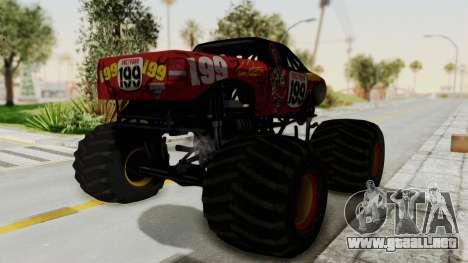 Pastrana 199 Monster Truck para la visión correcta GTA San Andreas