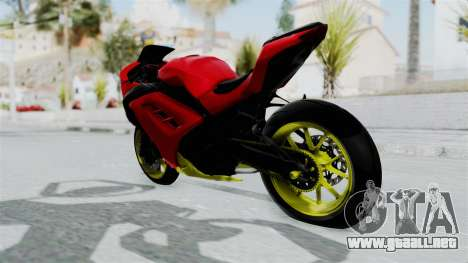 Kawasaki Ninja 250FI Anak Jalanan para GTA San Andreas vista posterior izquierda