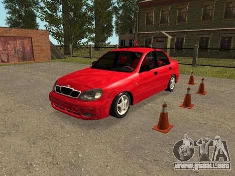 Daewoo Lanos (Sens) 2004 v2.0 by Greedy para vista inferior GTA San Andreas