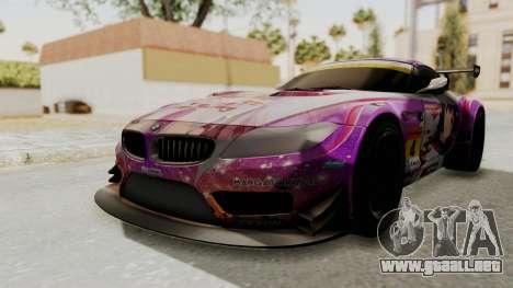 BMW Z4 GT3 Tobisawa Misaki para GTA San Andreas
