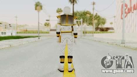Mighty Morphin Power Rangers - White para GTA San Andreas tercera pantalla