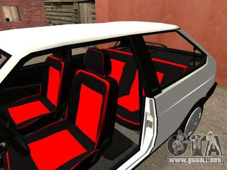 VAZ 2108 Stock by Greedy para GTA San Andreas vista hacia atrás