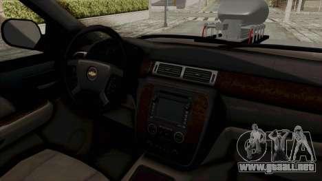 Chevrolet Silverado 2011 Monster Truck para visión interna GTA San Andreas