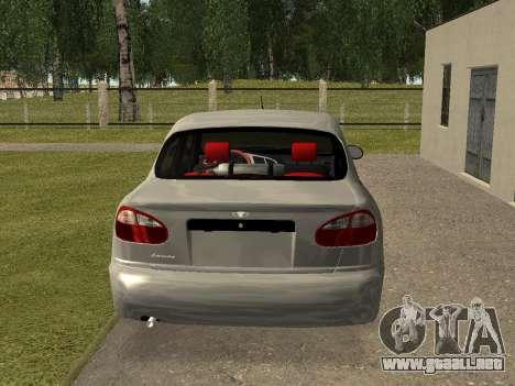 Daewoo Lanos (Sens) 2004 v2.0 by Greedy para la visión correcta GTA San Andreas