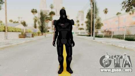 ME2 Shepard Default N7 Armor with Death Mask para GTA San Andreas segunda pantalla