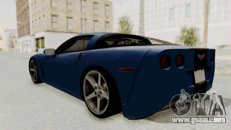 Chevrolet Corvette C6 para GTA San Andreas left