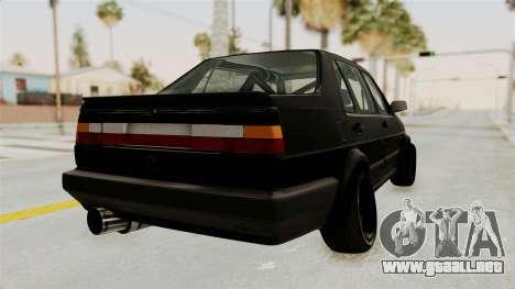 Volkswagen Jetta 2 para la visión correcta GTA San Andreas
