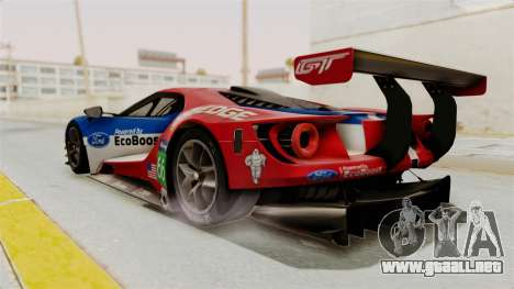 Ford GT 2016 LM para GTA San Andreas left
