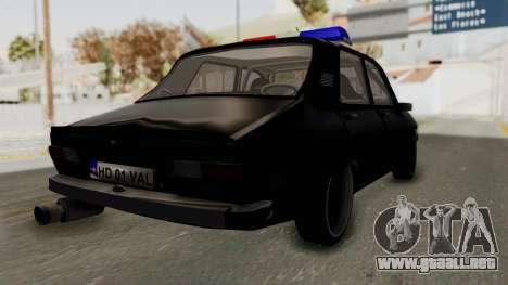 Dacia 1310 TX Turbo Police para GTA San Andreas vista posterior izquierda