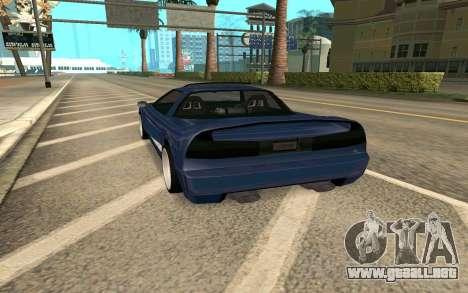 Infernus BlueRay V12 para GTA San Andreas vista posterior izquierda