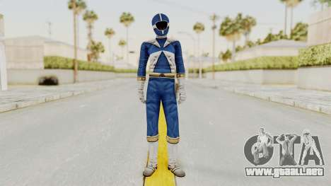 Power Rangers Lightspeed Rescue - Blue para GTA San Andreas segunda pantalla