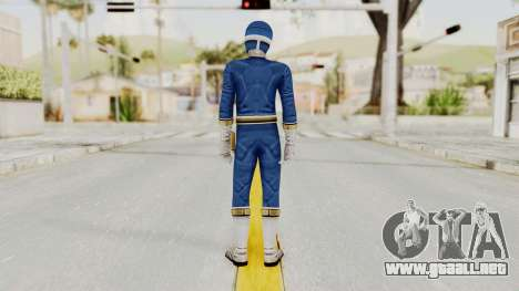 Power Rangers Lightspeed Rescue - Blue para GTA San Andreas tercera pantalla