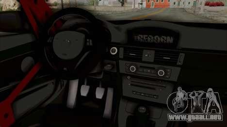 BMW M3 E92 Liberty Walk para visión interna GTA San Andreas