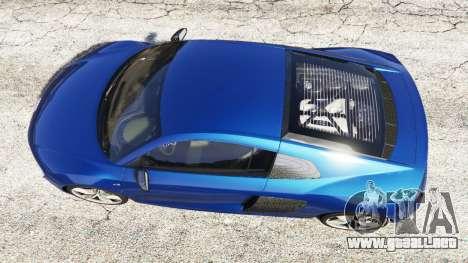 GTA 5 Audi R8 V10 Plus 2015 vista trasera