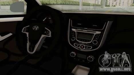 Hyundai Accent Era para visión interna GTA San Andreas
