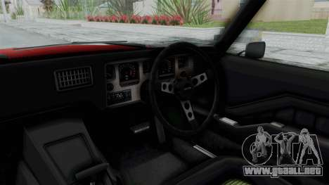 Holden Monaro GTS 1971 AU Plate HQLM para visión interna GTA San Andreas