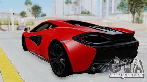 McLaren 570S 2016 para GTA San Andreas left