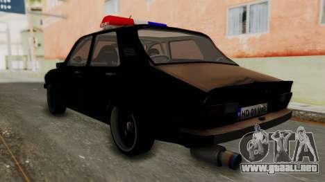 Dacia 1310 TX Turbo Police para GTA San Andreas left