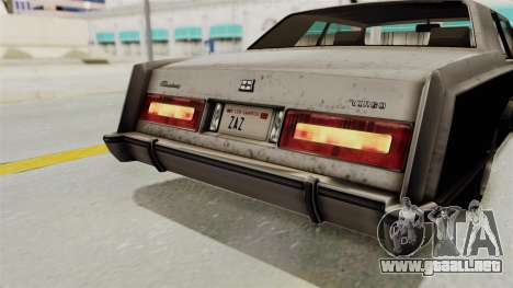 GTA 5 Dundreary Virgo SA Style para vista inferior GTA San Andreas