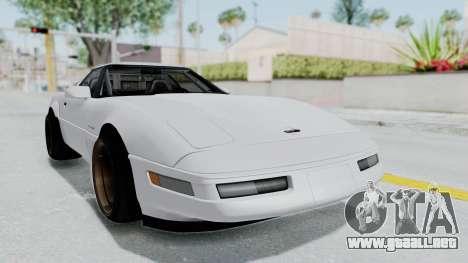 Chevrolet Corvette C4 Drift para GTA San Andreas vista posterior izquierda