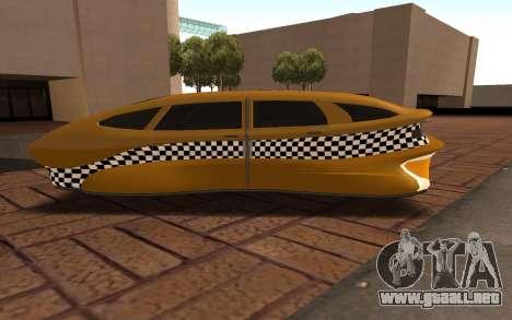 Flying Taxi para GTA San Andreas left