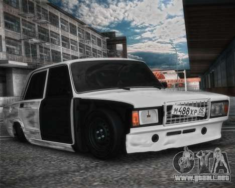 VAZ 2107 Hobo para GTA San Andreas vista posterior izquierda