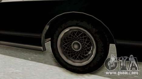 GTA 5 Dundreary Virgo SA Style para GTA San Andreas vista hacia atrás