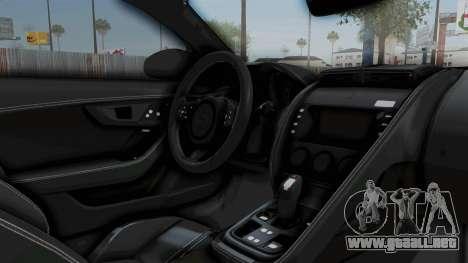 Jaguar F-Type Coupe 2015 para visión interna GTA San Andreas