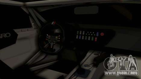 BMW Z4 GT3 Tobisawa Misaki para visión interna GTA San Andreas