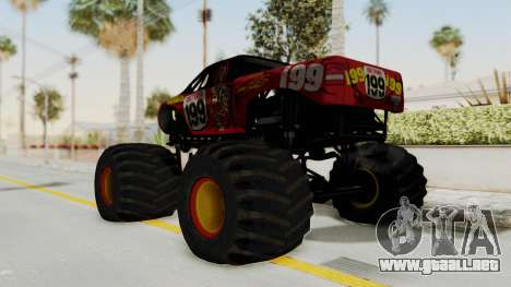 Pastrana 199 Monster Truck para GTA San Andreas left