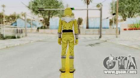 Power Rangers Time Force - Yellow para GTA San Andreas tercera pantalla