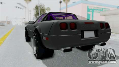 Chevrolet Corvette C4 Drag para GTA San Andreas left