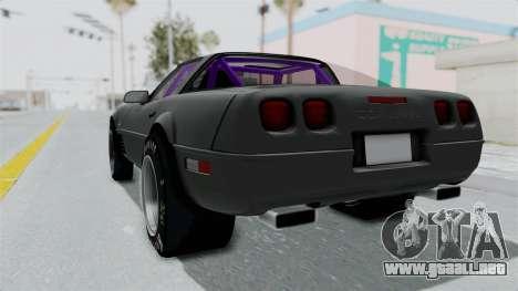 Chevrolet Corvette C4 Drag para GTA San Andreas left