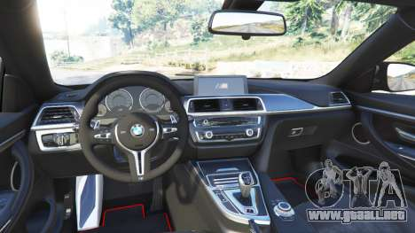GTA 5 BMW M4 GTS vista lateral trasera derecha