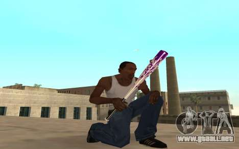 Purple fire weapon pack para GTA San Andreas segunda pantalla