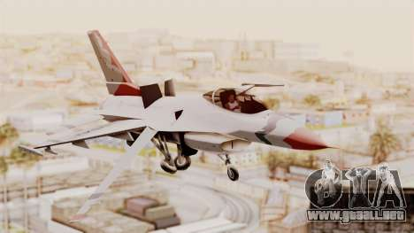 General Dynamics F-16A USAF Thunderbirds para GTA San Andreas