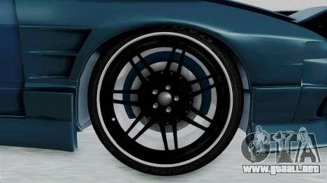 Nissan 180SX BETA para GTA San Andreas vista hacia atrás