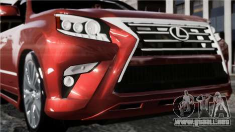 Lexsus GX460 para GTA 4 Vista posterior izquierda
