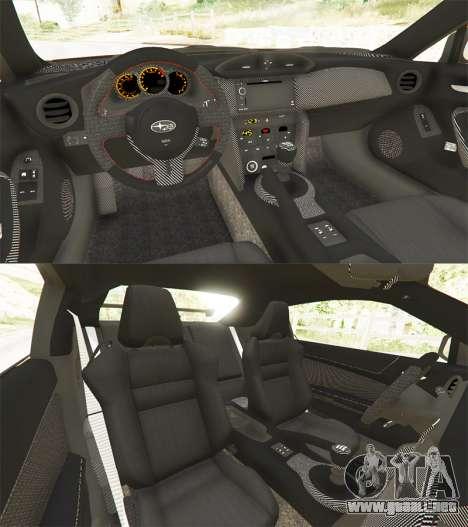 GTA 5 Subaru BRZ Rocket Bunny vista trasera