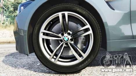 GTA 5 BMW M4 GTS delantero derecho vista lateral