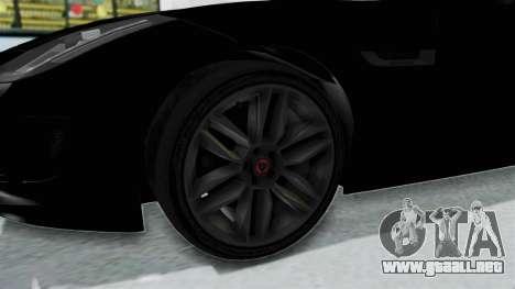 Jaguar F-Type Coupe 2015 para GTA San Andreas vista hacia atrás