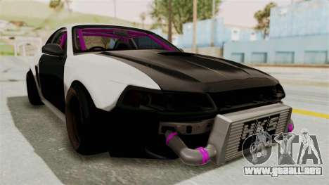Ford Mustang 1999 Drift para la visión correcta GTA San Andreas