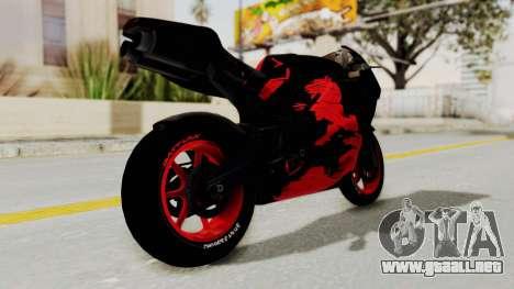 Bati Batik Hellboy Motorcycle v3 para la visión correcta GTA San Andreas