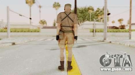 MGSV Phantom Pain CFA Combat Vest 1 v2 para GTA San Andreas tercera pantalla