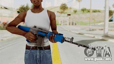 IOFB INSAS Dark Blue para GTA San Andreas tercera pantalla