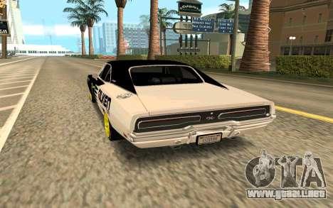 Dodge Charger 1969 para GTA San Andreas vista posterior izquierda