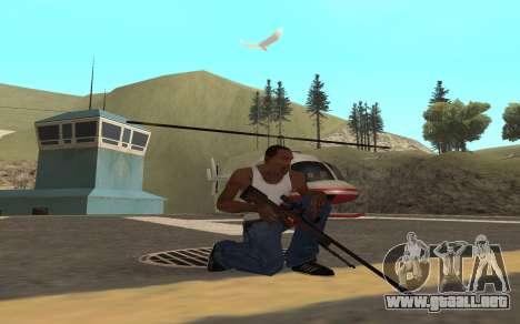 Redline weapon pack para GTA San Andreas sucesivamente de pantalla