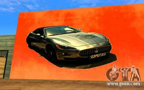 Maserati Wall Grafiti para GTA San Andreas